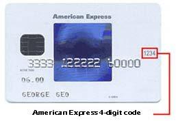 American Express CVV Code