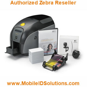 Zebra ZXP Series 1 QuikCard ID Card Solution Picture