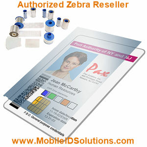 Zebra Card P330i Laminates and Overlays Picture